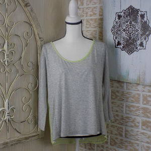 American Eagle flowy top with sheer back